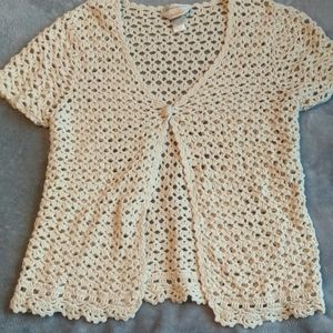 Christopher and Banks hand Crocheted cardigan
